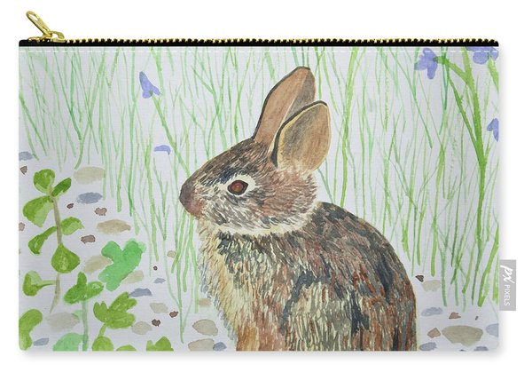 Watercolor - Baby Bunny Carry-all Pouch