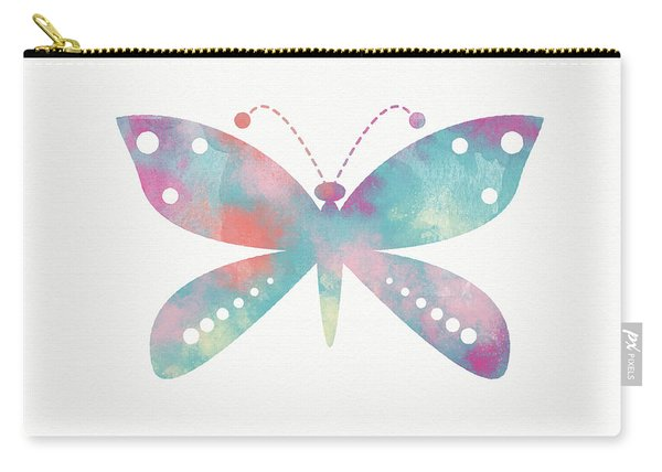 Watercolor Butterfly 3-art By Linda Woods Carry-all Pouch