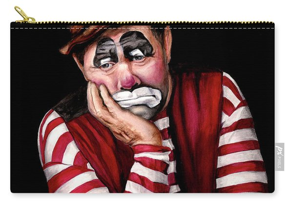 Watercolor Clown #28 Jim Howle Carry-all Pouch