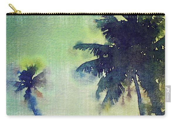 Watercolor Coconut Tree Tropical Vintage Palm  Carry-all Pouch