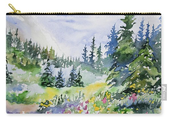 Watercolor - Colorado Summer Scene Carry-all Pouch