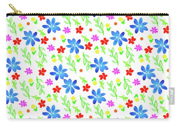 Watercolor Floral Seamless Pattern Carry-all Pouch
