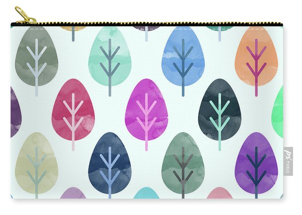 Watercolor Forest Pattern  Carry-all Pouch