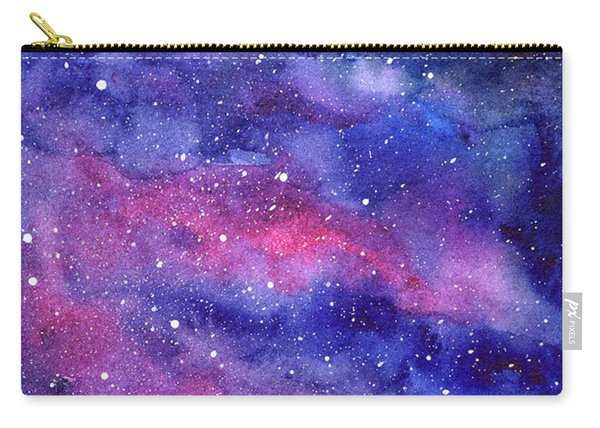 Watercolor Galaxy Pink Nebula Carry-all Pouch