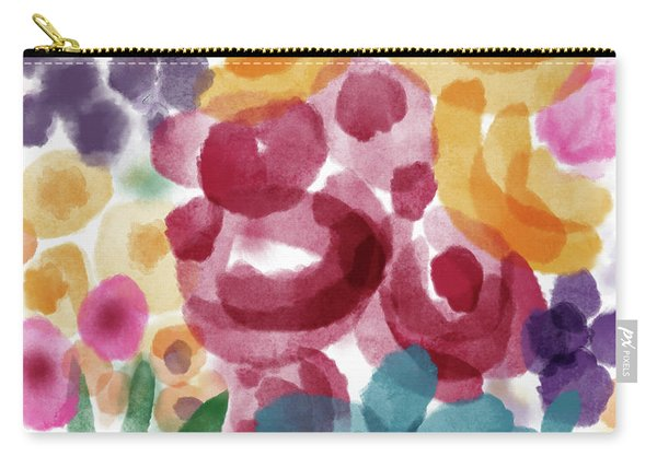 Watercolor Garden Flowers- Art By Linda Woods Carry-all Pouch