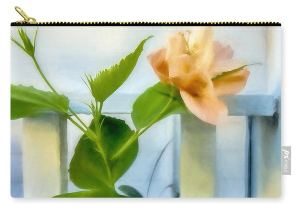 Watercolor Hibiscus Carry-all Pouch