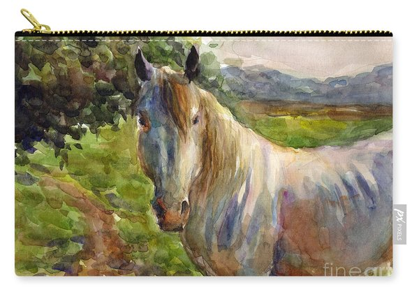 Watercolor Horse Carry-all Pouch