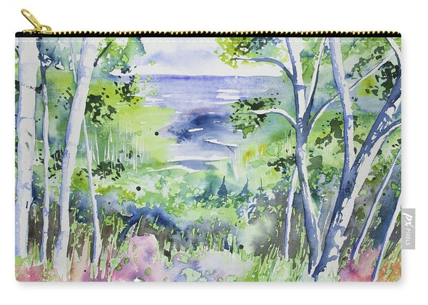 Watercolor - Lake Superior Impression Carry-all Pouch