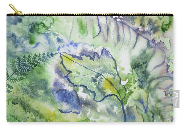 Watercolor - Leaves And Textures Of Nature Carry-all Pouch