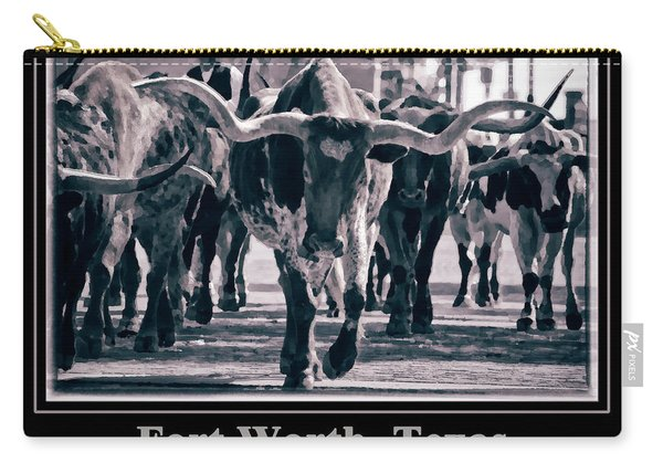 Watercolor Longhorns 2015 Carry-all Pouch