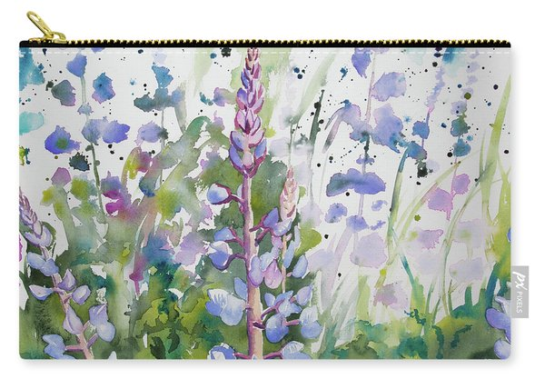 Watercolor - Lupine Wildflowers Carry-all Pouch
