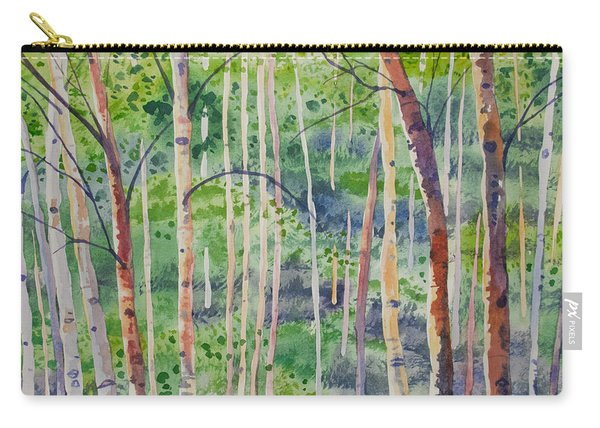 Watercolor - Magical Aspen Forest After A Spring Rain Carry-all Pouch