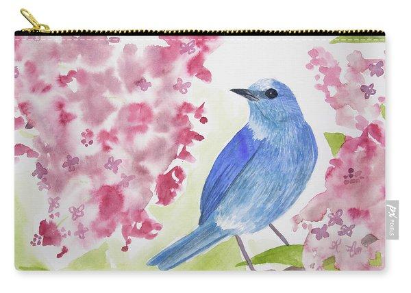 Watercolor - Mountain Bluebird Carry-all Pouch