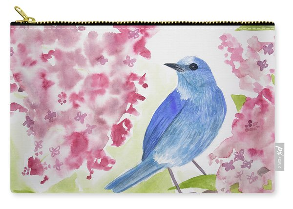 Watercolor - Mountain Bluebird Carry-all Pouch