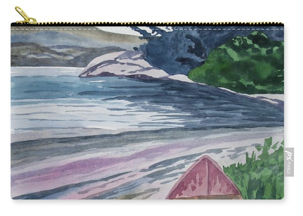 Watercolor - New Zealand Harbor Carry-all Pouch