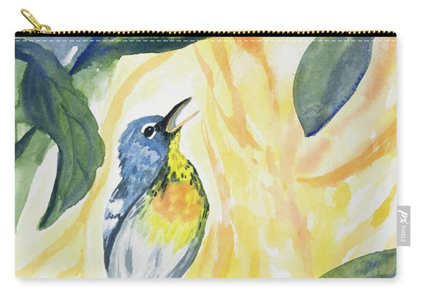 Watercolor - Northern Parula In Song Carry-all Pouch