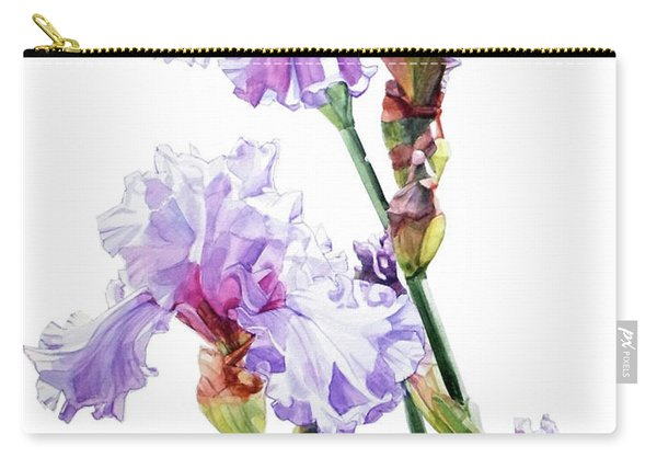 Watercolor Of A Tall Bearded Iris I Call Lilac Iris Wendi Carry-all Pouch