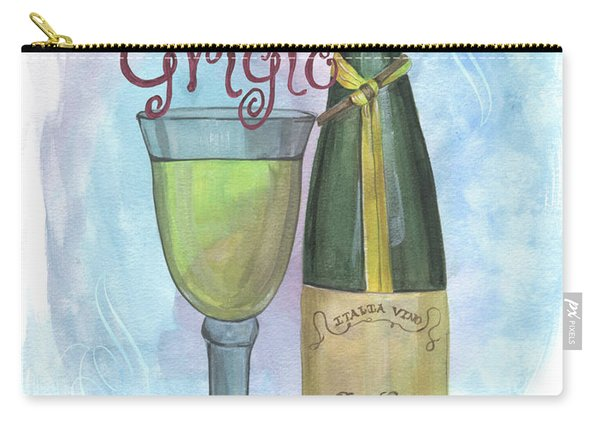 Watercolor Pinot Grigio Carry-all Pouch