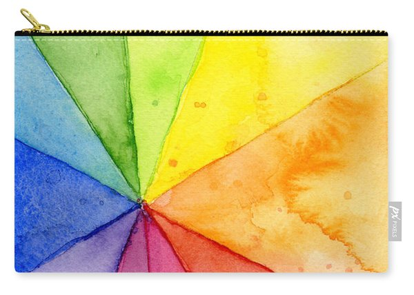 Watercolor Rainbow Beachball Pattern Carry-all Pouch