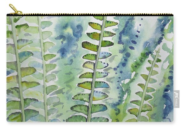 Watercolor - Rainforest Fern Impressions Carry-all Pouch