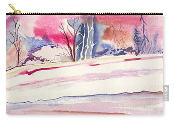 Watercolor River Carry-all Pouch