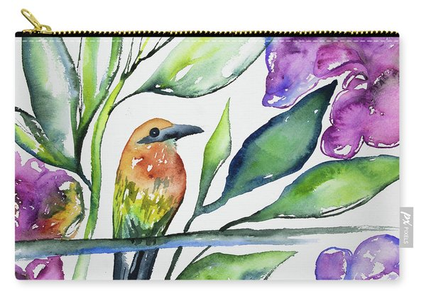 Watercolor - Rufous Motmot Carry-all Pouch