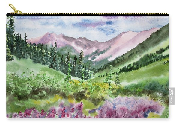 Watercolor - San Juans Mountain Landscape Carry-all Pouch