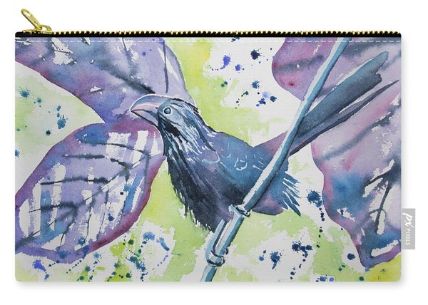 Watercolor - Smooth-billed Ani Carry-all Pouch