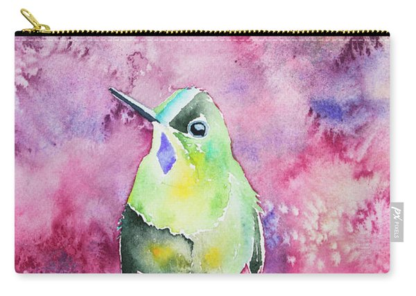 Watercolor - Violet-tailed Sylph Carry-all Pouch
