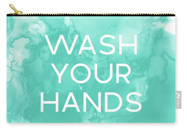 Watercolor Wash Your Hands- Art By Linda Woods Carry-all Pouch