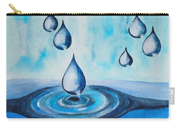 Waterdrops Carry-all Pouch