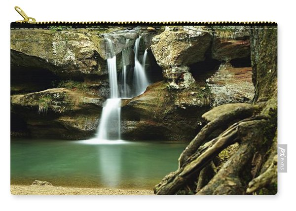 Waterfall And Roots Carry-all Pouch