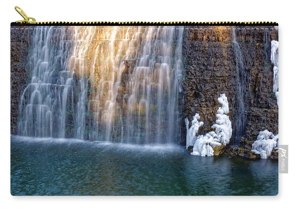 Waterfall In Winter Carry-all Pouch