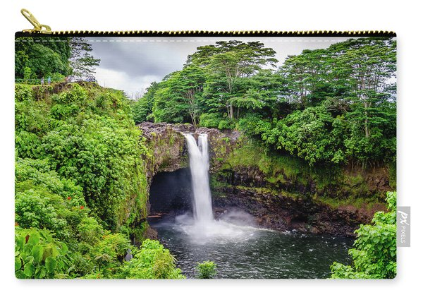 Waterfall Into The Valley Carry-all Pouch