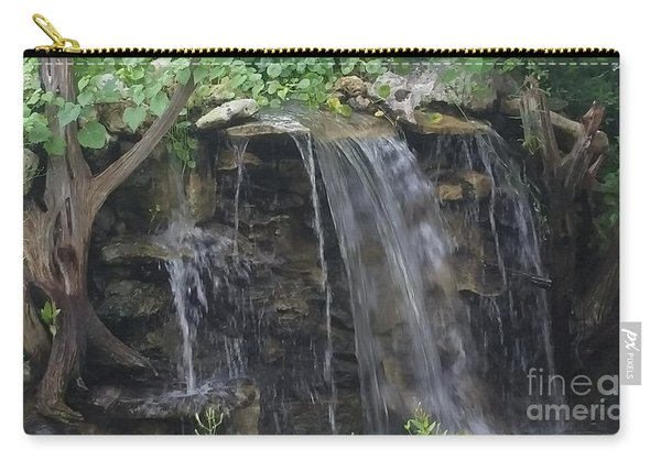 Carry-all Pouch featuring the photograph Waterfall Serenity by Jimmy Clark