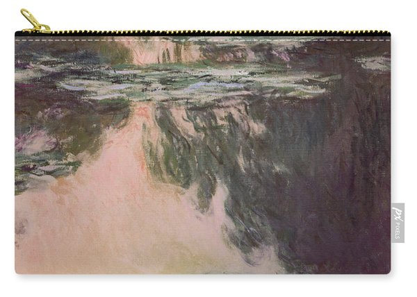 Waterlilies With Weeping Willows Carry-all Pouch