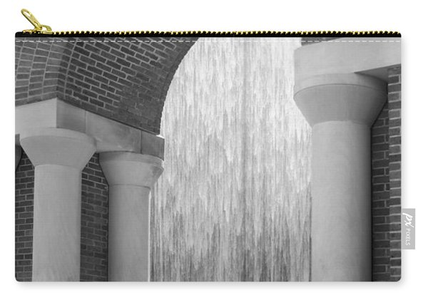 Waterwall And Arch 3 In Black And White Carry-all Pouch