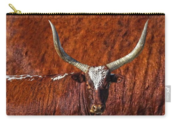 Watusi Blues In Rustic Red Carry-all Pouch
