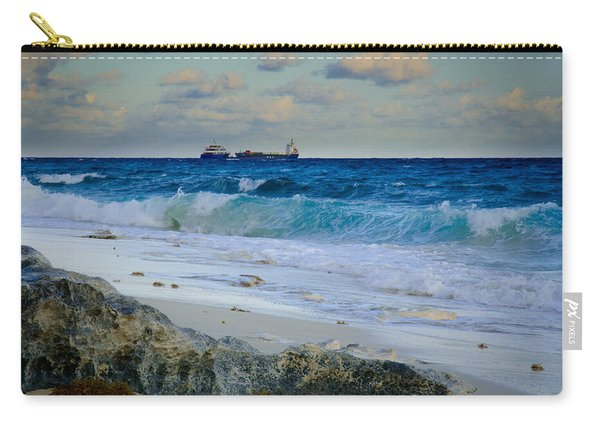 Waves And Tankers Carry-all Pouch