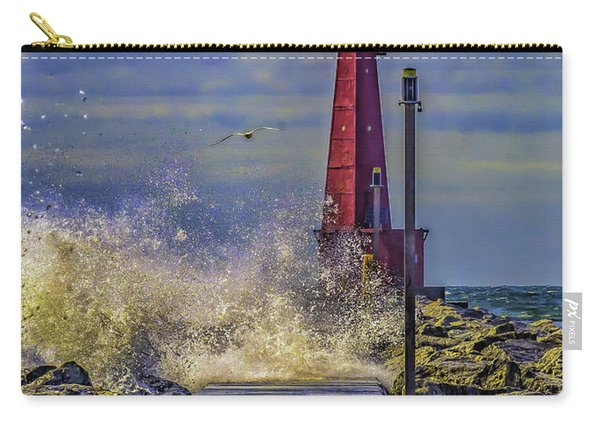 Waves At Muskegon South Breakwater Carry-all Pouch