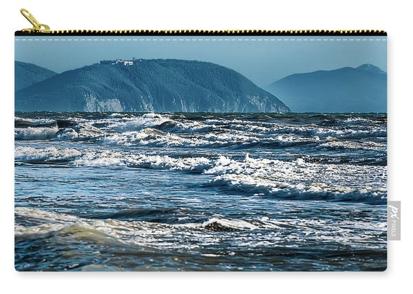 Waves At Populonia Promontory - Onde Al Promontorio  Carry-all Pouch
