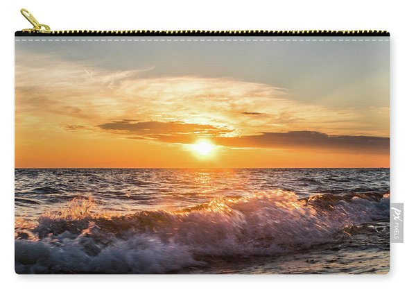 Waves Crashing With Suset Carry-all Pouch