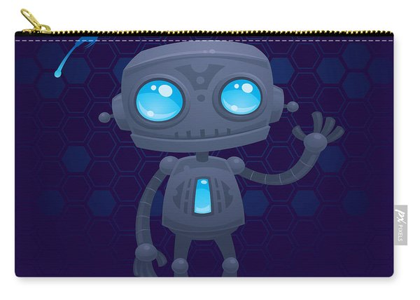 Waving Robot Carry-all Pouch