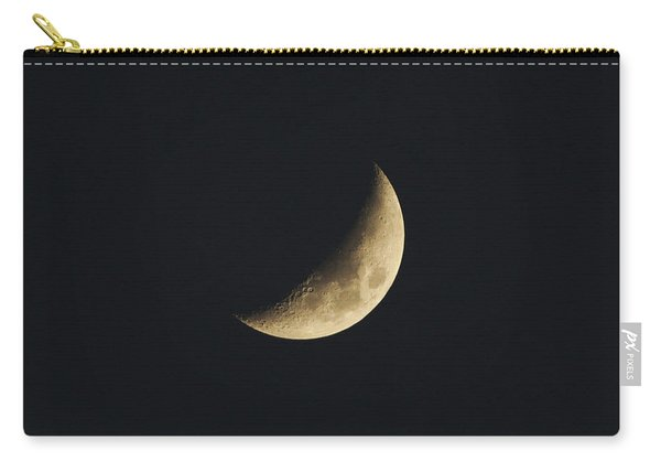 Carry-all Pouch featuring the photograph Waxing Crescent Spring 2017 by Jason Coward