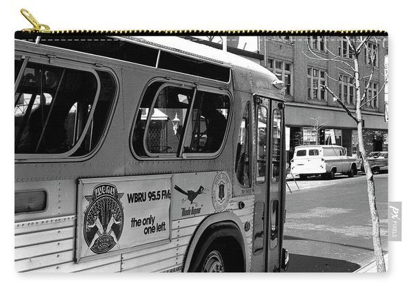 Wbru-fm Bus Sign, 1975 Carry-all Pouch