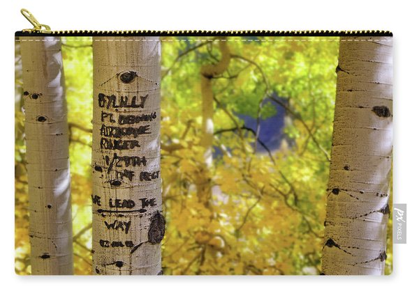 We Lead The Way - Aspens - Colorado - Airborne Ranger Carry-all Pouch