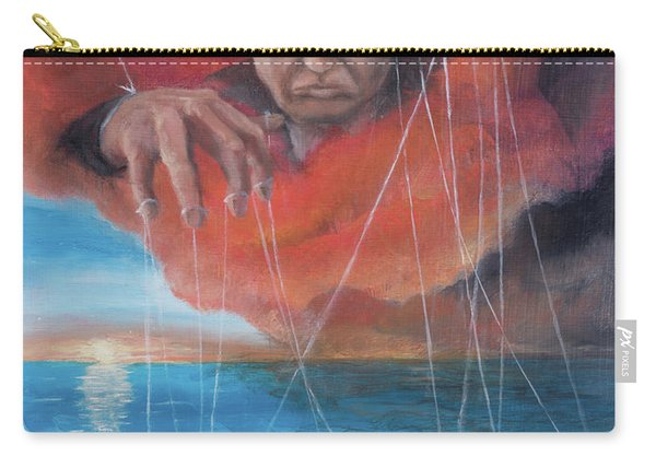 Carry-all Pouch featuring the painting We Traded Our Hearts For Stones by Break The Silhouette