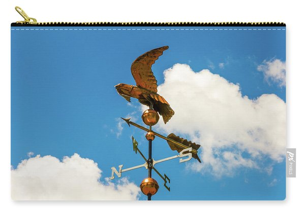 Weather Vane On Blue Sky Carry-all Pouch