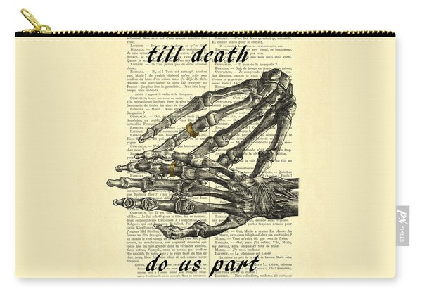 Wedding Gift, Till Death Do Us Part Carry-all Pouch