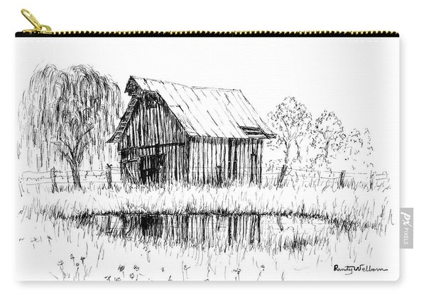 Weeping Willow And Barn Two Carry-all Pouch